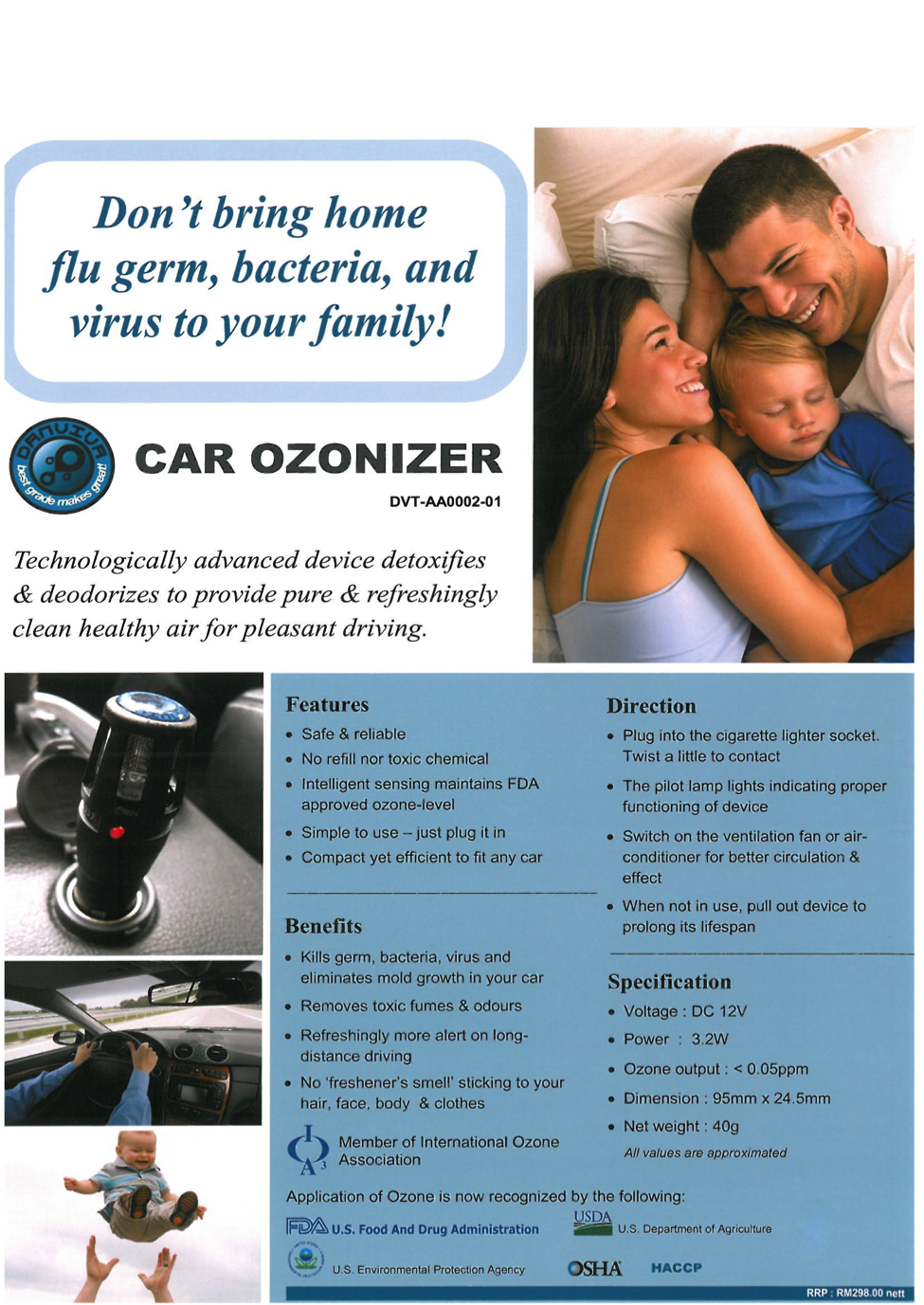 Car Ozonizer - Air Purifier for the Car